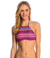 Billabong Swimwear Meshin With You Reversible High Neck Bikini Top