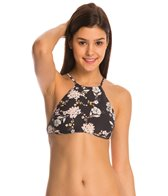 Billabong Swimwear Festival Floral Reversible High Neck Crop Bikini Top