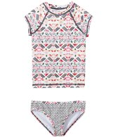 Billabong Girls' Gee Gee Geo Shortsleeve Rashguard Set (4-14)