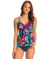 Penbrooke Eastern Exotic Twist Front Tankini Top