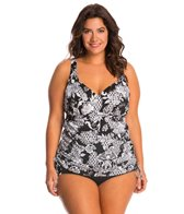 Penbrooke Plus Size Intermingle Adjustable Tankini Top