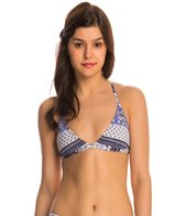 Roxy Swimwear Souk Paisley Racerback Fixed Tri Bikini Top