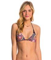 Hurley Swimwear Turkish Floral Reversible Lined Triangle Bra Bikini Top