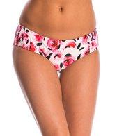 Kate Spade Bay of Roses Smocked Hipster Bikini Bottom