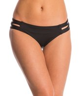 Carmen Marc Valvo Lattice Solid Strappy Side Bikini Bottom