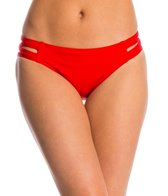 Carmen Marc Valvo Lattice Solid Strappy Side Bikini Bottom