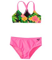 Roxy Girls' In the Tropics Tie Back Swimsuit Set (7-16)