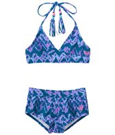 Roxy Girls' Summer Escape Triangle Short Swimsuit Set (7-16)