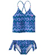 Roxy Girls' Summer Escape Tankini Swimsuit Set (7-16)