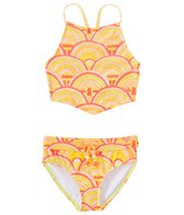 Roxy Girls' Sunrise Summer Bandana Swimsuit Set (7-16)