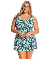 Sporti Plus Size Tropic Swim Dress