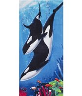 dohler USA Whale Family Beach Towel 30 x 60