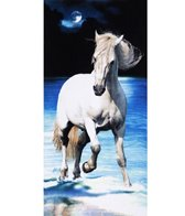 dohler USA White Horse Beach Towel 30 x 60