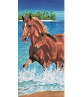 dohler USA Horses In Water Beach Towel 30 x 60