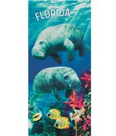 dohler USA Florida Manatees Beach Towel 30 x 60