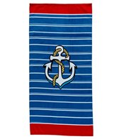 dohler USA Anchor & Stripes Beach Towel 30 x 60