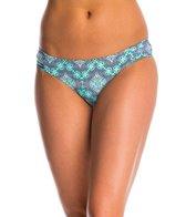 Jessica Simpson Swimwear Desert Diamond Side Shirred Hipster Bikini Bottom
