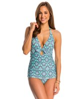 Jessica Simpson Swimwear Desert Diamond Retro Halter Swimdress