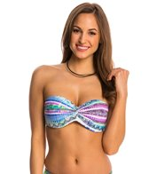 Jessica Simpson Swimwear Limelight Twist Bandeau Bikini Top (D-Cup)