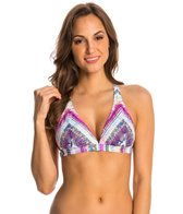 Jessica Simpson Swimwear Limelight X-Back Triangle Bikini Top (D-Cup)