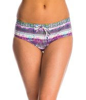 Jessica Simpson Swimwear Limelight Drawstring Boyshort Bottom