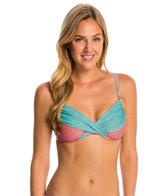Swim Systems Labyrinth Shirred Underwire Bikini Top (D/DD Cup)