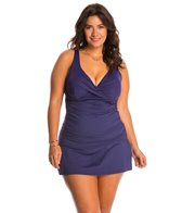 Anne Cole Plus Size Solid Underwire Tankini Top