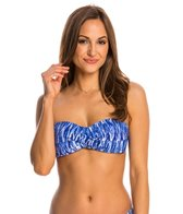 Anne Cole Indigo Tide Twist Bandeau Bikini Top