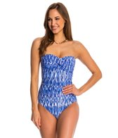 Anne Cole Indigo Tide Bandeau One Piece Swimsuit