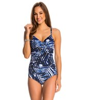 Jantzen Palm Surplice One Piece Swimsuit