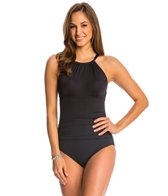 Jantzen Solid High Neck One Piece Swimsuit