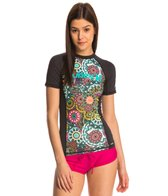 Hurley One & Only Printed Floral S/S Rashguard