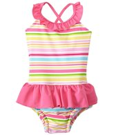 iPlay Girls' Mix & Match One Piece Swimsuit w/Built-in Swim Diaper (6mos-3T)
