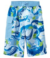 iPlay Boys' Tropical Swim Trunks w/Built-in Swim Diaper (6mos-4T)