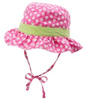 iPlay Girls' Classic Reversible Ruffle Bucket Hat (0mos-4T)