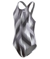 Nike Youth Beam Powerback Tank One Piece Swimsuit