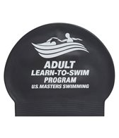 USMS Learn to Swim Latex Swim Cap with one color print