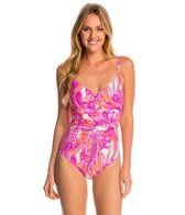 Miraclesuit Persian Garden Nip 'N Tuck One Piece Swimsuit
