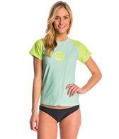 Level Six Women's Coastal Short Sleeve Loose Fitting Surf Tee