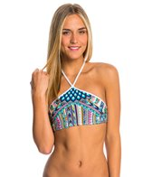 Bikini Lab Swimwear Birds of a Feather High Neck Bikini Top