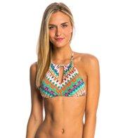 Bikini Lab Swimwear Ikat Stop This Feeling High Neck Bikini Top