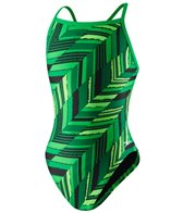 Speedo Youth Endurance+ Angles Flyback One Piece Swimsuit
