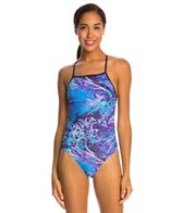 Speedo Turnz Photowave Printed One Back One Piece Swimsuit