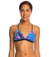 Speedo Turnz Photowave Printed Tie Back Bikini Swimsuit Top