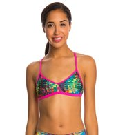 Speedo Turnz Eye Spy Printed Fixed Back Bikini Swimsuit Top