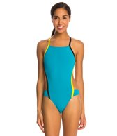 Speedo Turnz Vee 2 Color Block One Piece Swimsuit