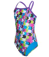Speedo Youth Flipturns Geo Playtime Propel Back One Piece Swimsuit