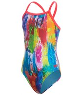 Speedo Youth Flipturns Colorscape Propel Back One Piece Swimsuit