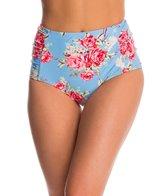 Betsey Johnson Swimwear Urban Rose High Waist Bikini Bottom