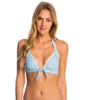 Betsey Johnson Swimwear Picnic Gingham Halter Bikini Top